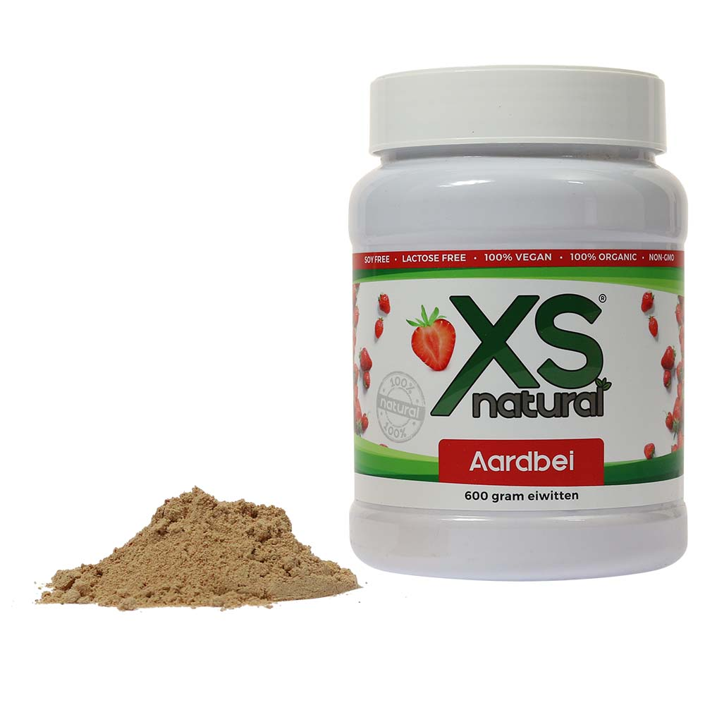 XS Natural Vegan Strawberry Protein Shake (600 grams)