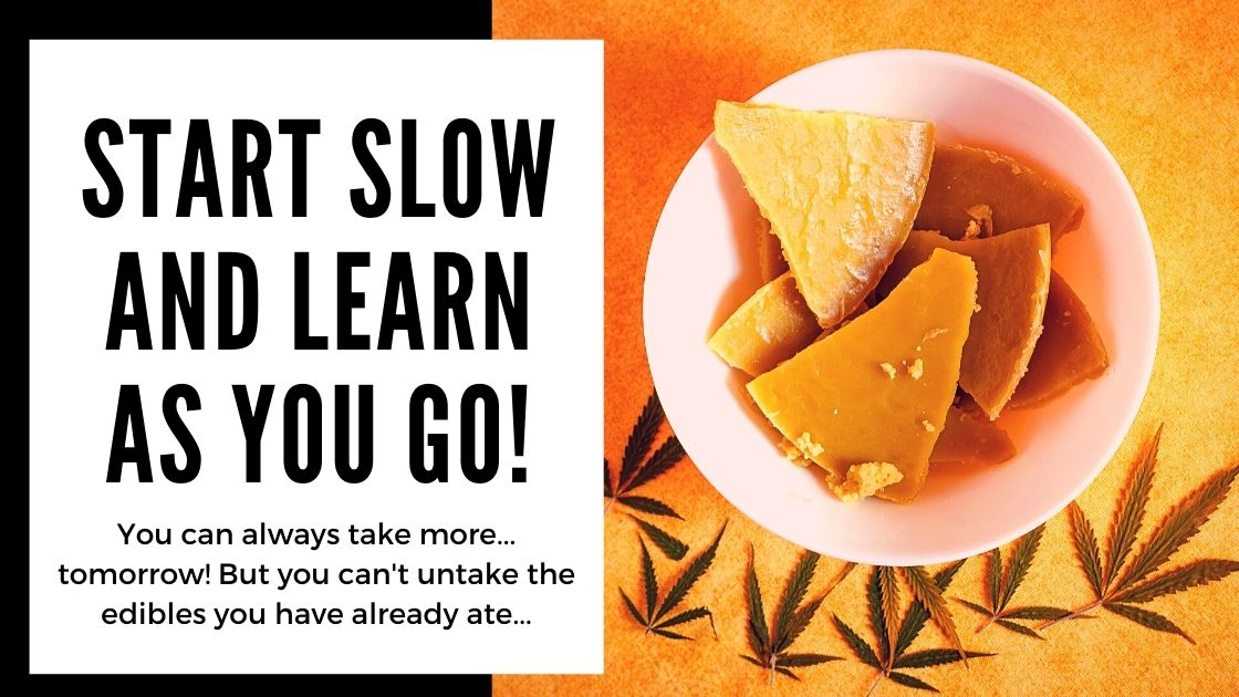 Calculating Cannabis Edibles Dose - start slow and learn as you go - smartific blog