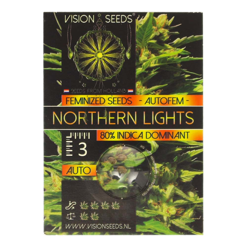 🌿 Vision Seeds Cannabis Seeds Auto NORTHERN LIGHTS Smartific 2014199