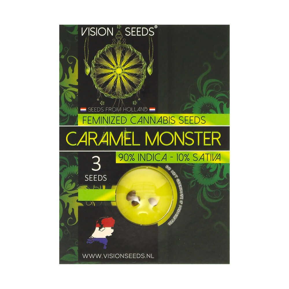 🌿 Vision Seeds Feminized Cannabis Seeds CARAMEL MONSTER Smartific 2014231