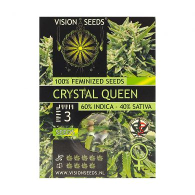 🌿 Vision Seeds Feminized Cannabis Seeds CRYSTAL QUEEN Smartific 2014239
