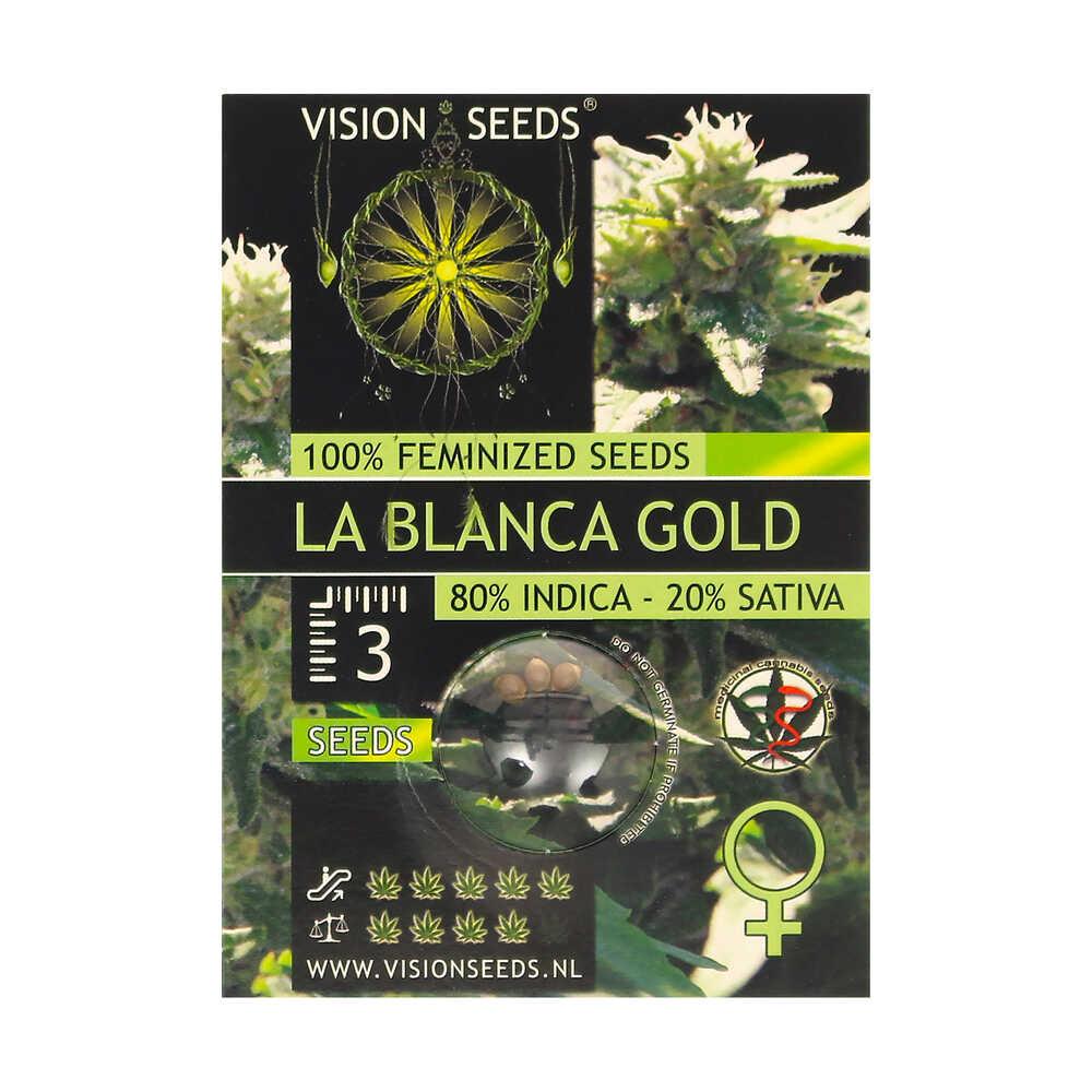🌿 Vision Seeds Feminized Cannabis Seeds LA BLANCA GOLD Smartific 2014247