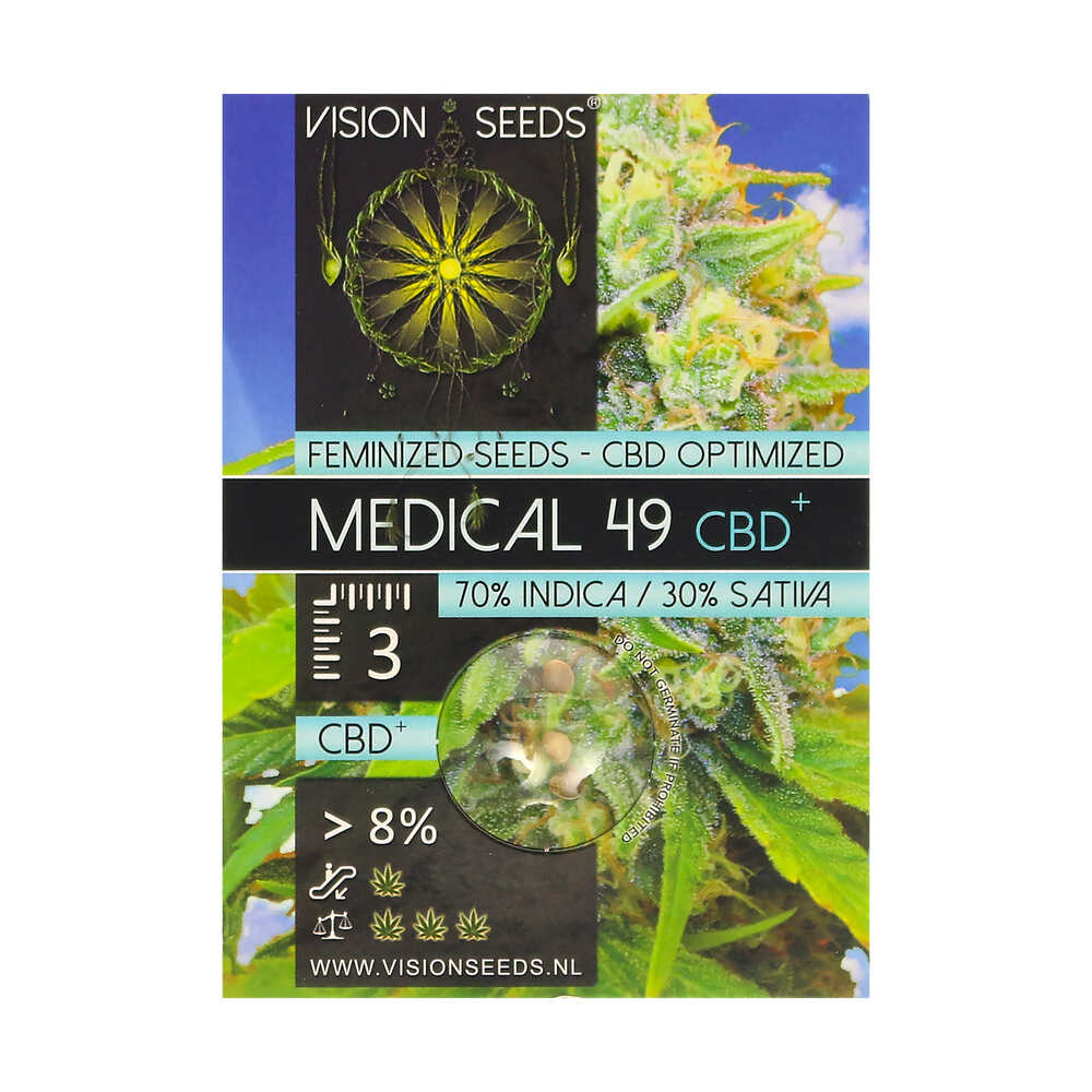 🌿 Vision Seeds Feminized Cannabis Seeds MEDICAL 49 (CBD+) Smartific 2014251