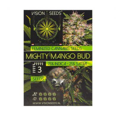 🌿 Vision Seeds Feminized Cannabis Seeds MIGHTY MANGO BUD Smartific 2014253