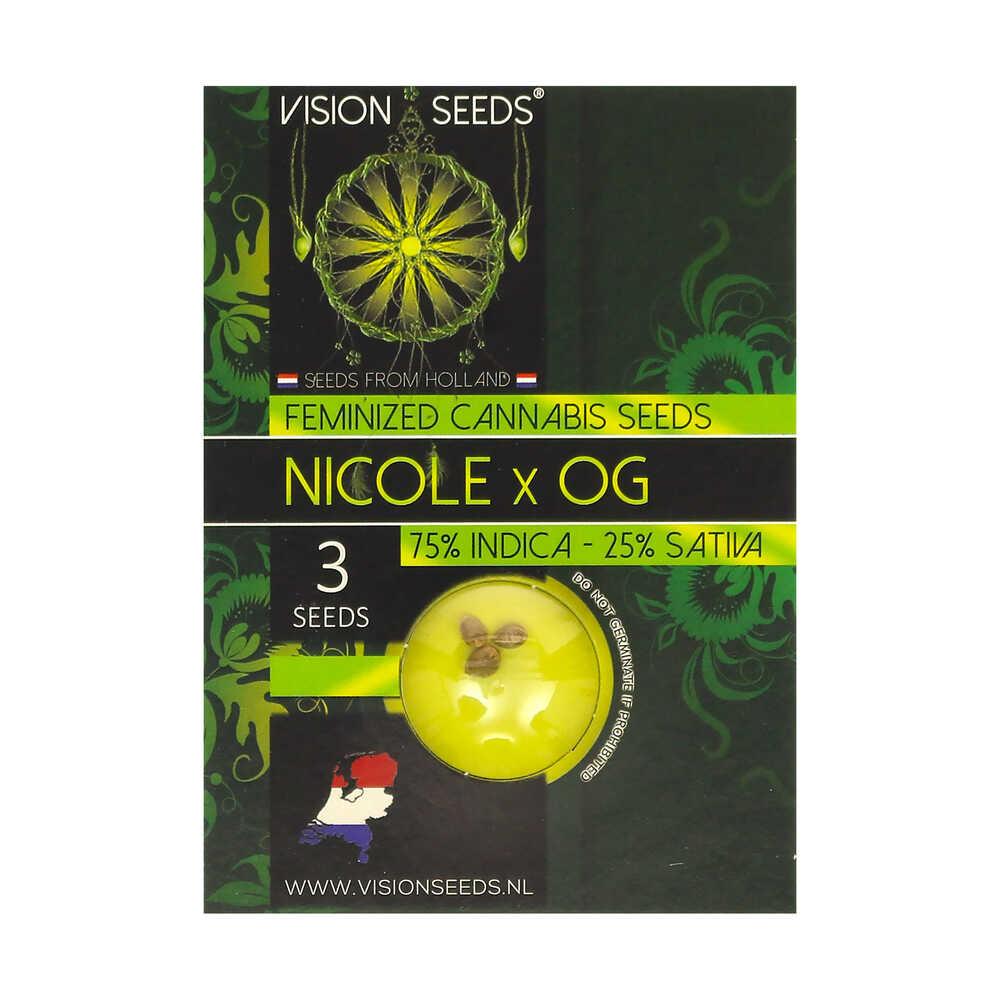 🌿 Vision Seeds Feminized Cannabis Seeds NICOLE X OG Smartific 2014255