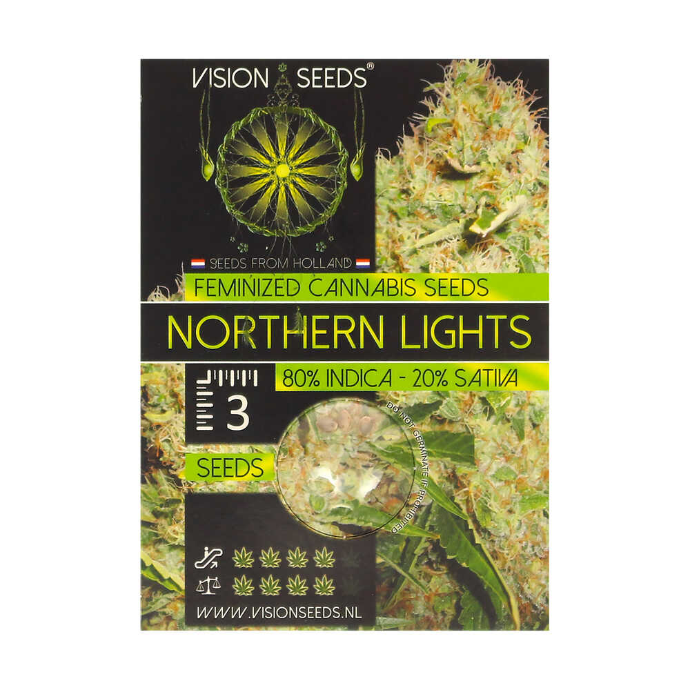 🌿 Vision Seeds Feminized Cannabis Seeds NORTHERN LIGHTS Smartific 2014257
