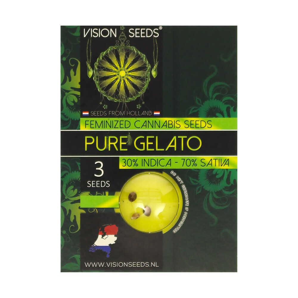 🌿 Vision Seeds Feminized Cannabis Seeds PURE GELATO Smartific 2014261