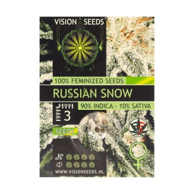 🌿 Vision Seeds Feminized Cannabis Seeds RUSSIAN SNOW Smartific 2014263