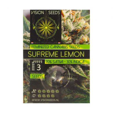 🌿 Vision Seeds Feminized Cannabis Seeds SUPREME LEMON Smartific 2014269