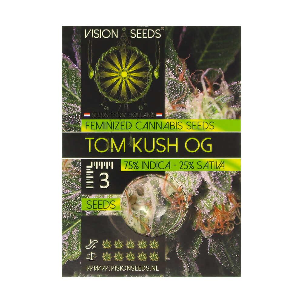 🌿 Vision Seeds Feminized Cannabis Seeds TOM KUSH OG Smartific 2014271