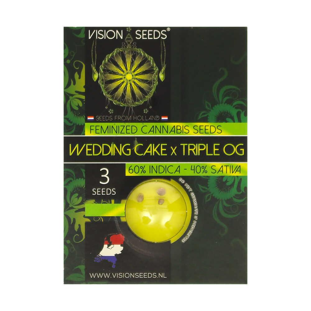 🌿 Vision Seeds Feminized Cannabis Seeds WEDDING CAKE X TRIPLE OG Smartific 2014279