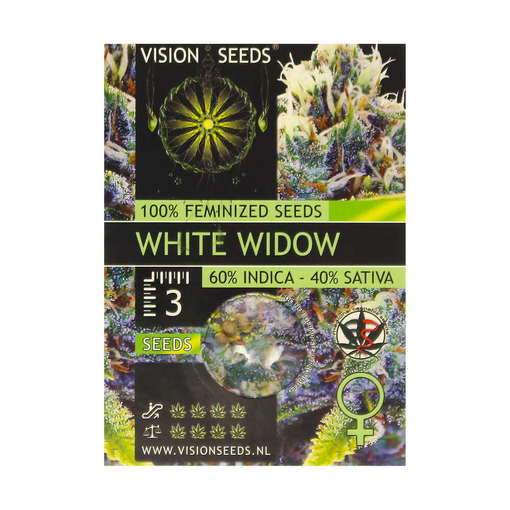 🌿 Vision Seeds Feminized Cannabis Seeds WHITE WIDOW Smartific 2014281