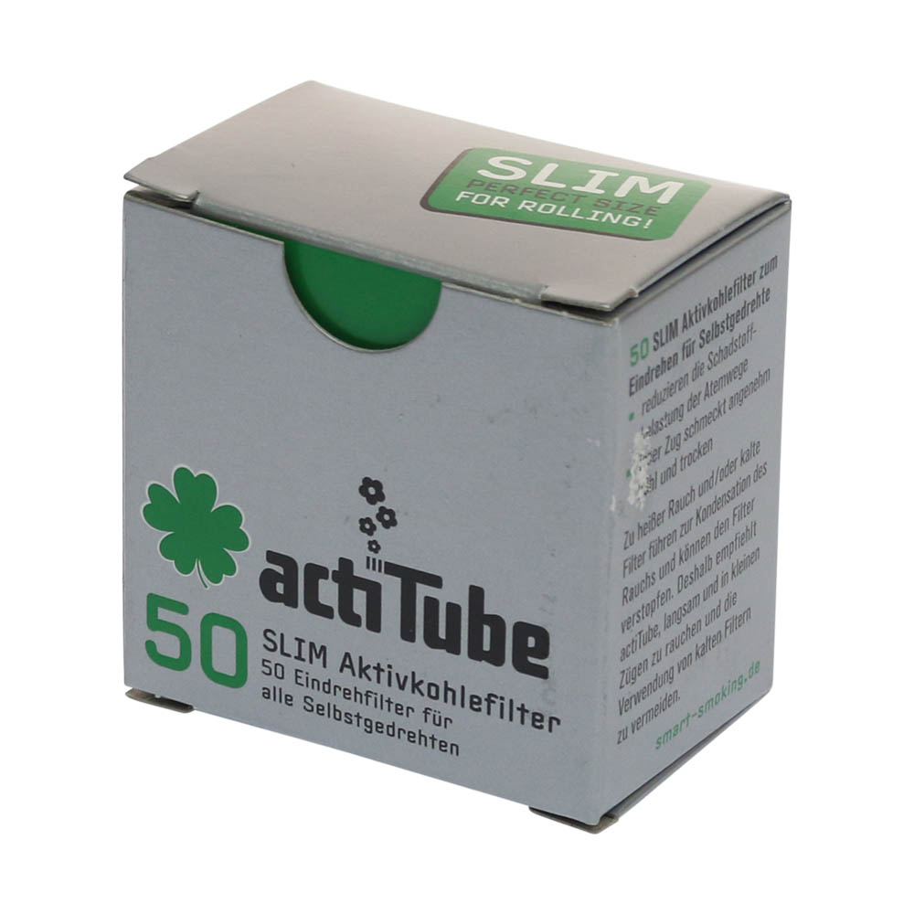 💨 ActiTube Activated Charcoal Slim Filter Tips Smartific 4260041939950