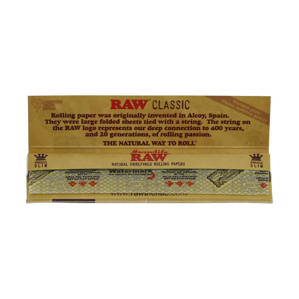 💨 Raw Classic King Size Slim Rolling Papers Smartific 716165177364