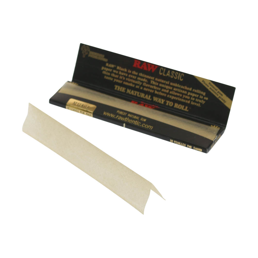 💨 Raw Black King Size Slim Rolling Papers Smartific 716165250326