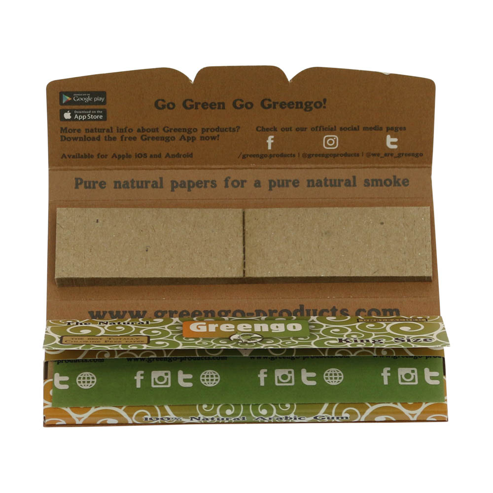 💨 Greengo King Size Slim 2in1 Rolling Papers with tips Smartific 8595134501193