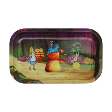 🧐 Alice in Grinderland Forest Large Metal Rolling Tray Smartific 8718274713558