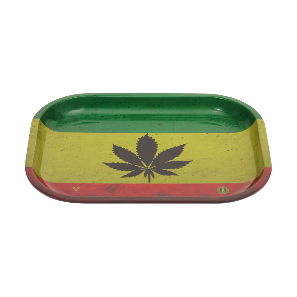 🧐 Rasta Leaf Small Metal Rolling Tray Smartific 8718274713619