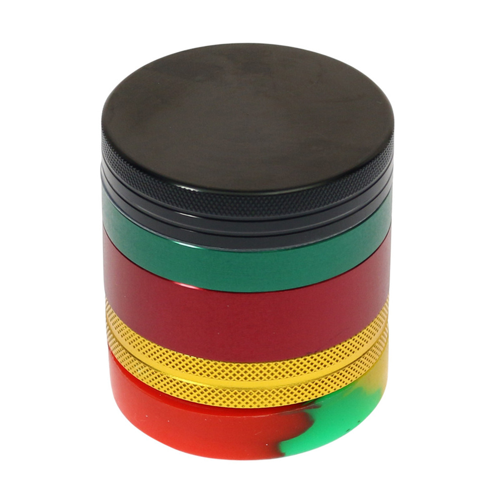🧐 Rasta Grinder with Silicone Chamber Smartific 8718274714494