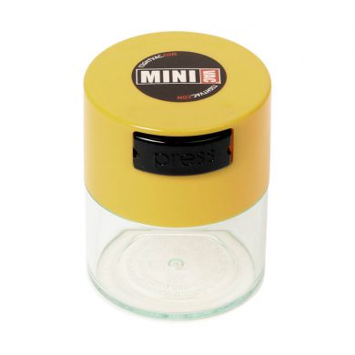 ? Small Tightvac Stashbox Clear With Yellow Cap Smartific 609465409696