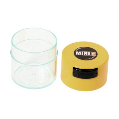 🧐 Small Tightvac Stashbox Clear With Yellow Cap Smartific 609465409696