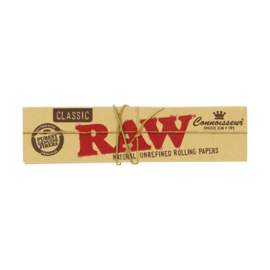 💨 Raw Classic Connoisseur King Size Slim Rolling Papers and Tips Smartific 716165174028