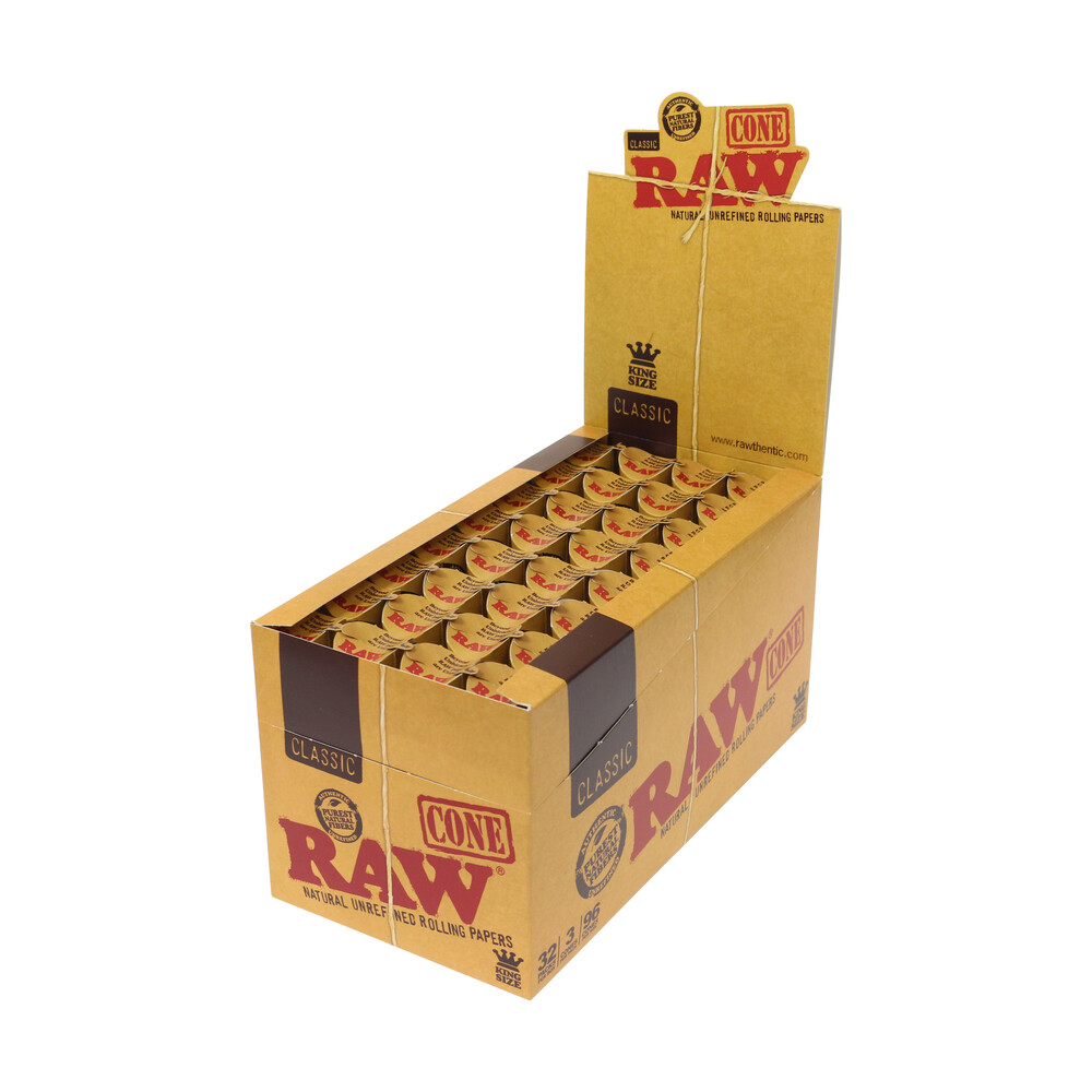 💨 Raw Pre-Rolled Classic King Size Cones Smartific 716165174585