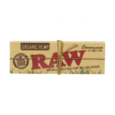 💨 Raw Organic Hemp Connoisseur 1¼ Rolling Papers and Tips Smartific 716165176138