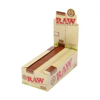 💨 Raw Organic Hemp Single Wide Double Rolling Papers Smartific 716165179184