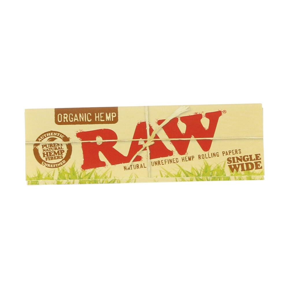 💨 Raw Organic Hemp Single Wide Rolling Papers Smartific 716165179207