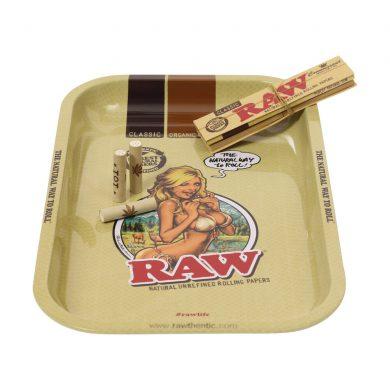 🧐 Raw Girl Small Metal Rolling Tray Smartific 716165282952