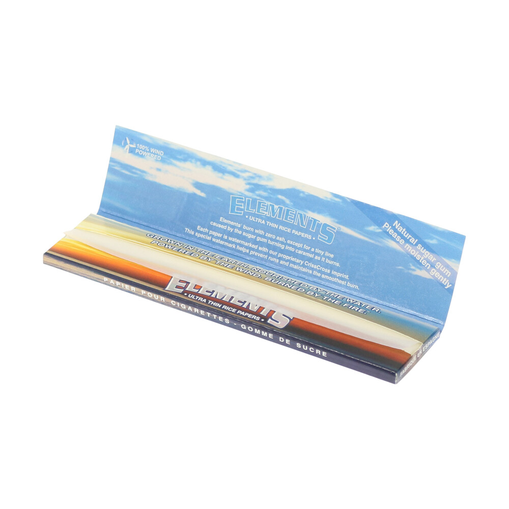 💨 Elements King Size Slim Thin Rolling Papers Smartific 716165177784