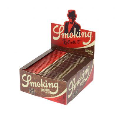 💨 Smoking Brown King Size Slim Rolling Papers Smartific 8414775013547