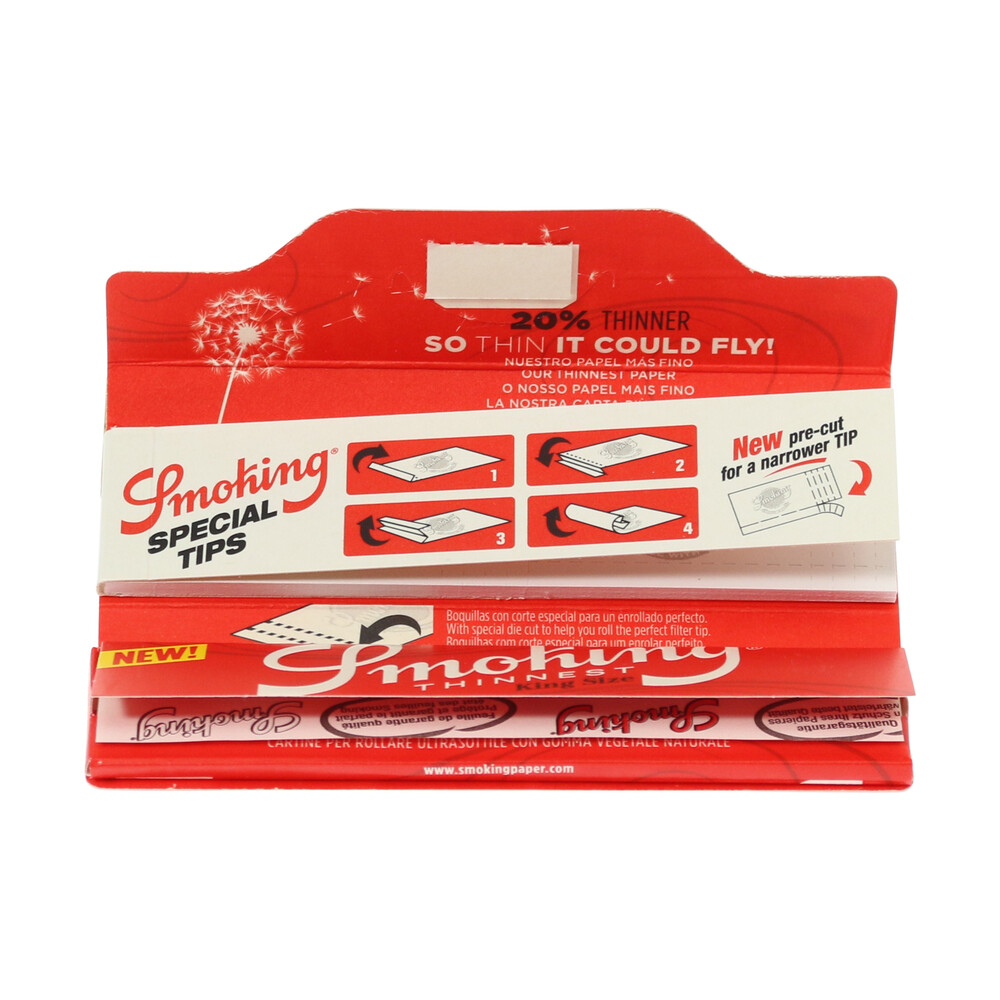 💨 Smoking Thinnest King Size and Tips Rolling Papers Smartific 8414775018016