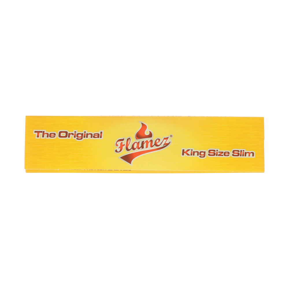 💨 Flamez Yellow King Size Slim Rolling Papers Smartific 8595134500769