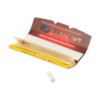 💨 Flamez Yellow King Size Slim Rolling Papers with Tips Smartific 8595134503142