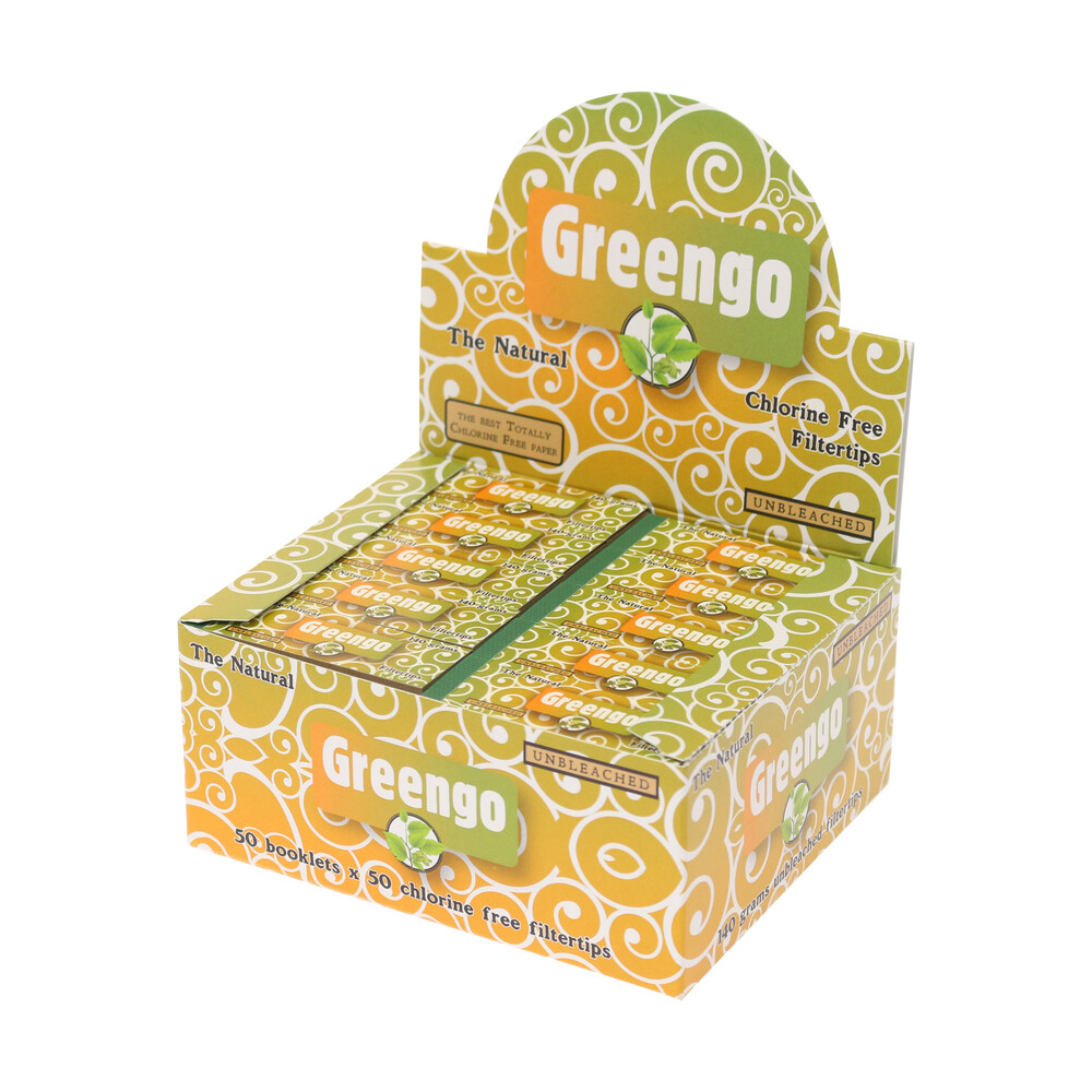 💨 Greengo Unbleached Filter Tips Smartific 85951761