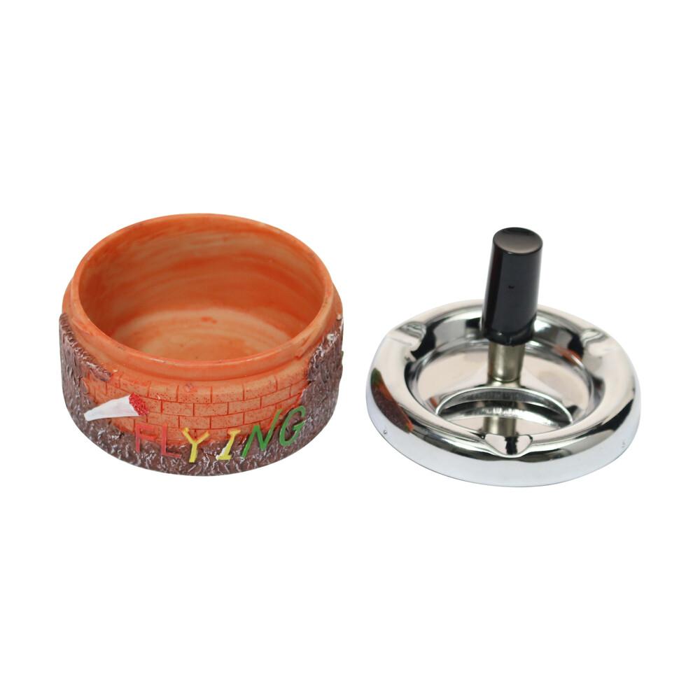 🧐 Spinning Rasta Ashtray Smartific 8717624211140