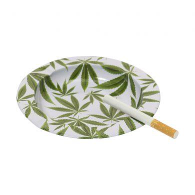 🧐 Metal Cannabis Leaves Ashtray Smartific 8718053643557