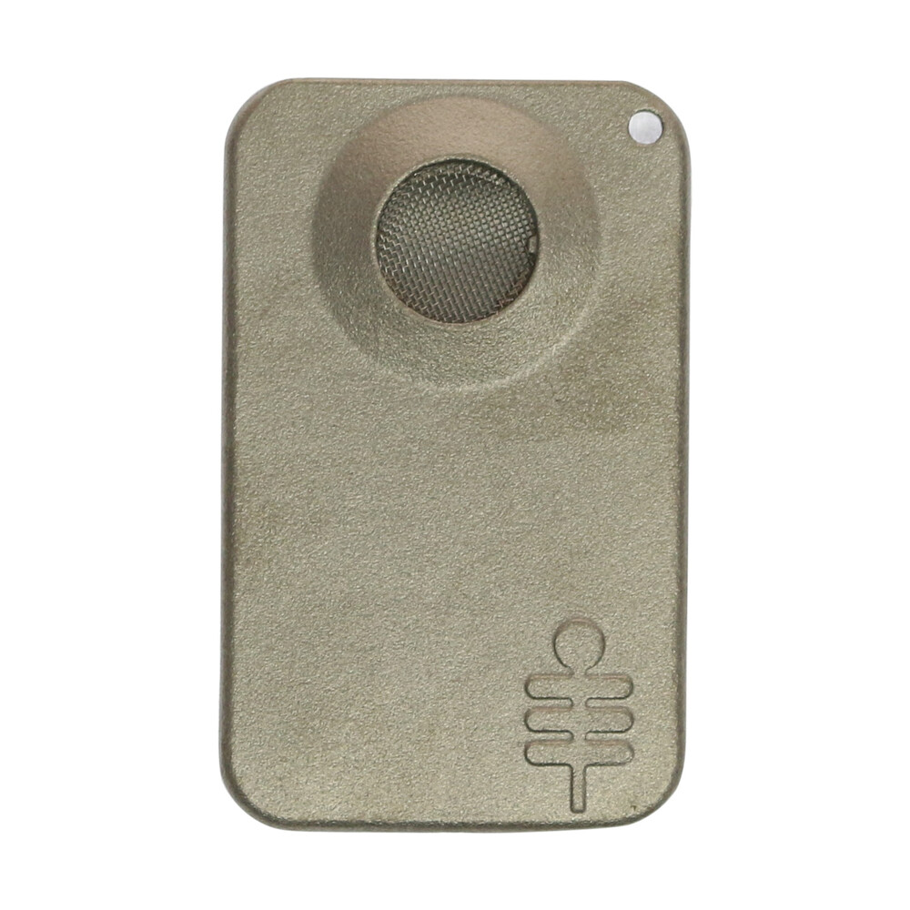 "🧐 Silver Palm Leaf ""Creditcard"" Pipe Smartific 8718274713053"