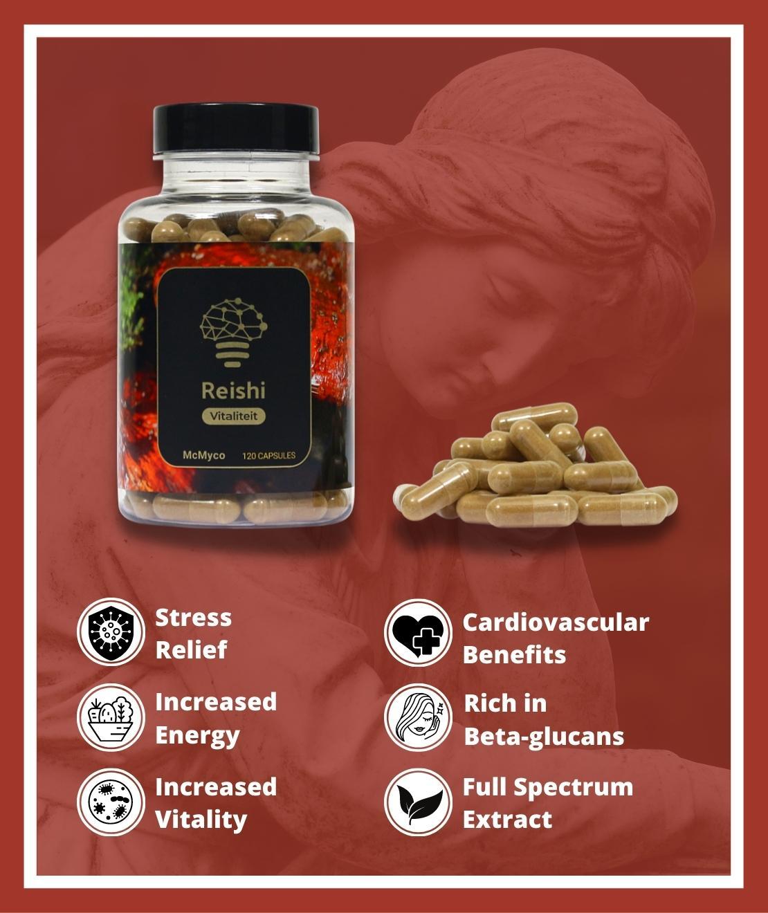 Reishi medicinal mushrooms for sale capsules smartific