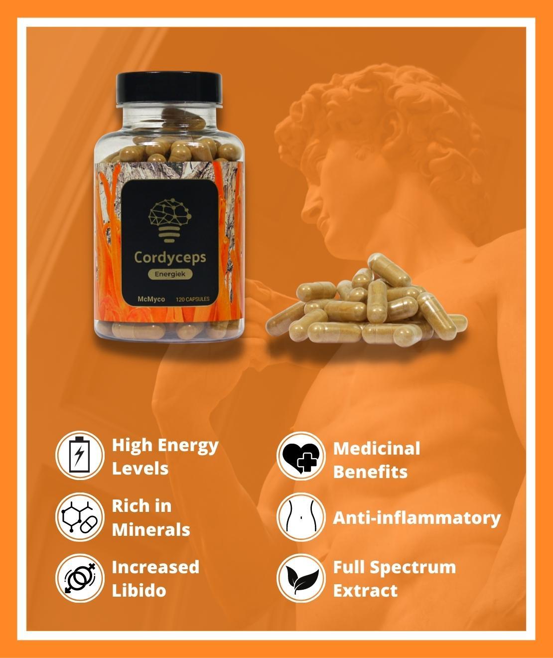 Cordyceps medicinal mushrooms for sale capsules smartific