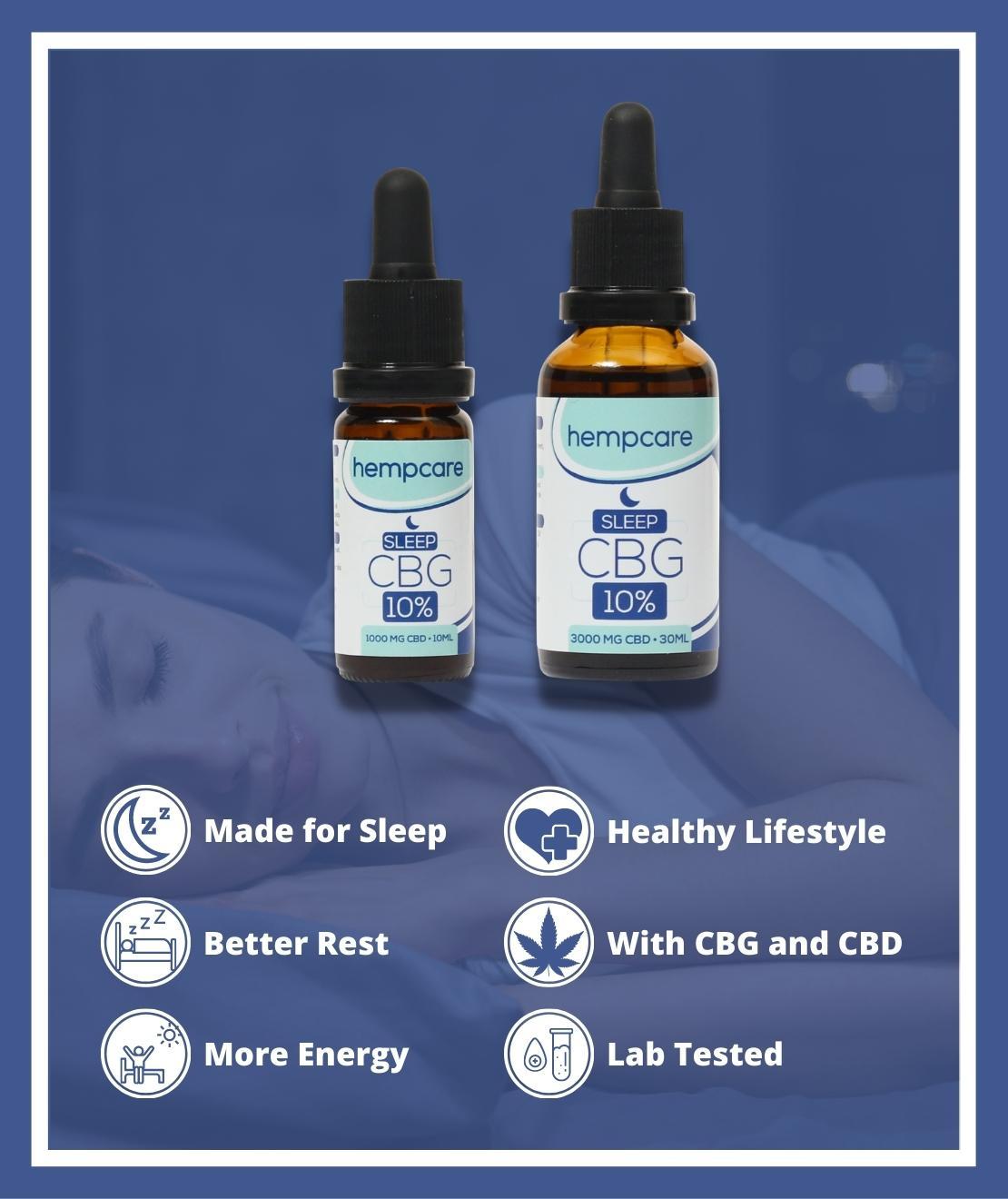 Hempcare Sleep CBG Oil with CBD