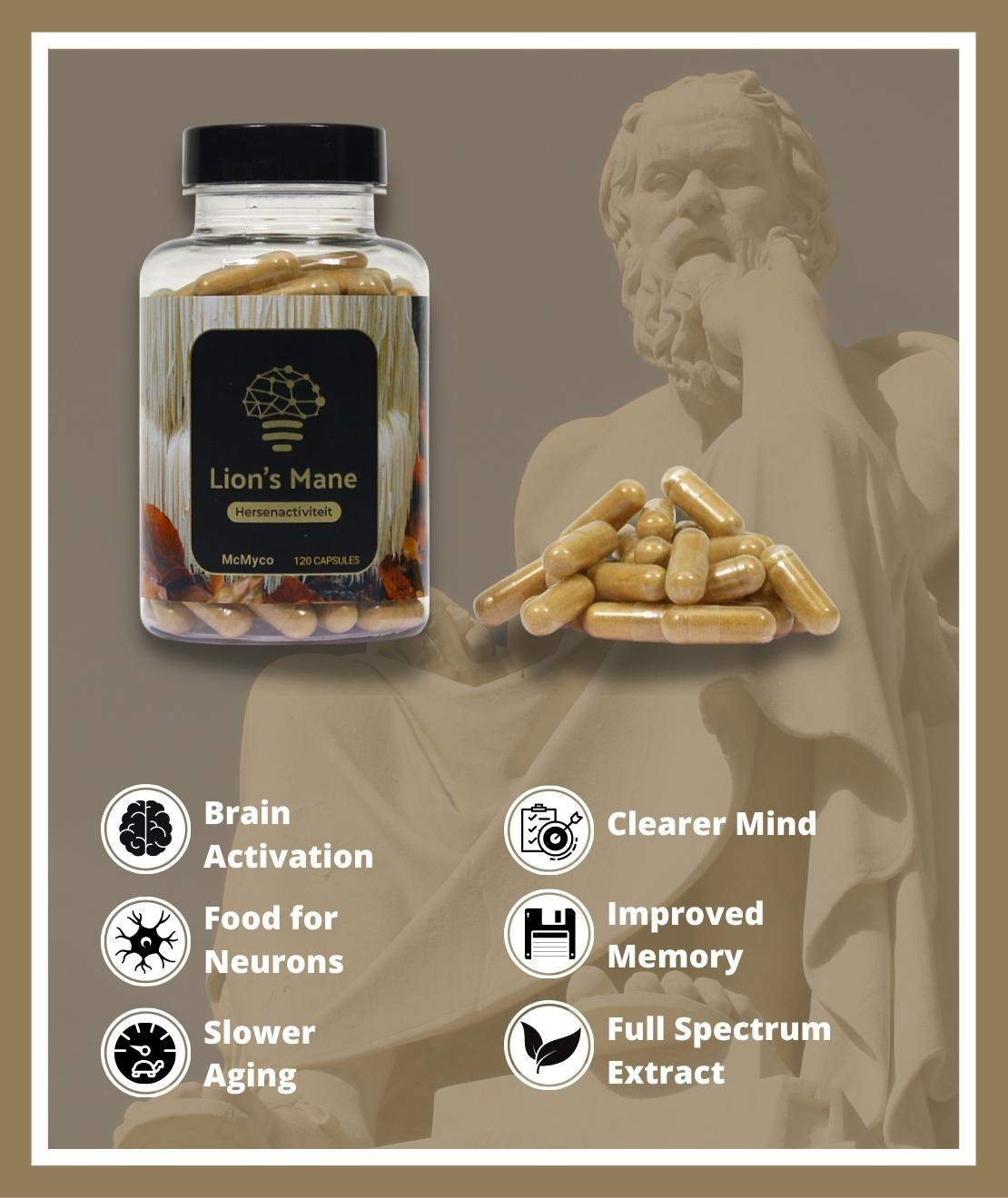 Lion's Mane medicinal mushrooms for sale capsules smartific